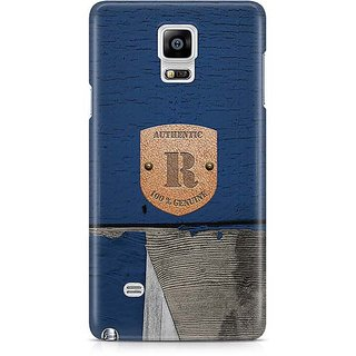 YuBingo Monogram With Beautifully Written Wooden And Metal (Plastic) Finish Letter R Designer Mobile Case Back Cover For Samsung Galaxy Note 4