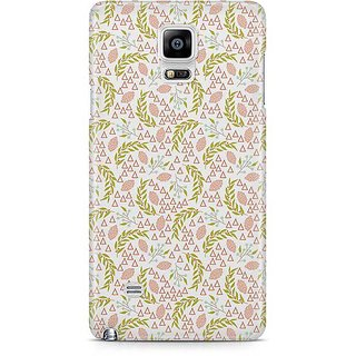 YuBingo Leafy Pattern Designer Mobile Case Back Cover For Samsung Galaxy Note 4