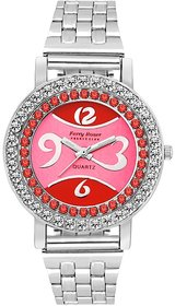 Ferry Rozer Red  Pink Dial Analog Watch For Women - FR5