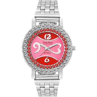 Ferry Rozer Red  Pink Dial Analog Watch For Women - FR5043