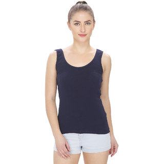 9830cb86a7f0db Buy By The Way Navy Blue Womens Camisole Slip Online - Get 58% Off