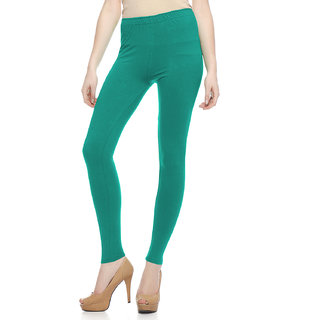 Sakhi Sang Solid Teal Green Ankle Leggings