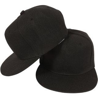 PLAIN Black Cap For Men/Snapback Cap/ Baseball Caps/ Hip Hop Cap