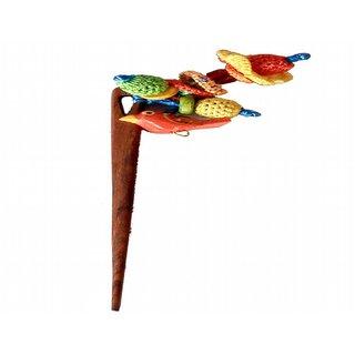 Multi colored Crochet tassels Hairstick