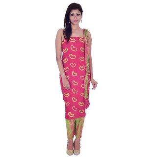 5a1df6edab Buy Apratim Pink Cotton Dress Material (Unstitched) Online - Get 20% Off