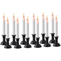 Flameless LED Flickering Candle Light With Stand Set Of 12pc