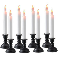 Flameless LED Flickering Candle Light With Stand Set Of 8pc