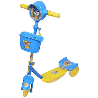 Ehomekart Blue Noddy Scooter With Lights And Music For Kids