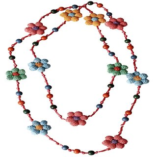 Muti colored Crochet Forest Flower Necklace