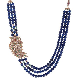 Bead Designs Blue Beads Necklace