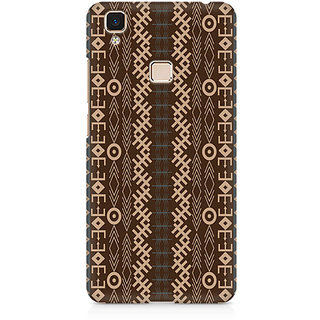 CopyCatz Brown Tribal Strips Premium Printed Case For Vivo V3 Max
