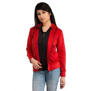Snoby Red Double zipper hoody jacket (SET_1040)