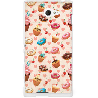 CopyCatz Watercolor Hearts Premium Printed Case For Sony Xperia M2 S50h