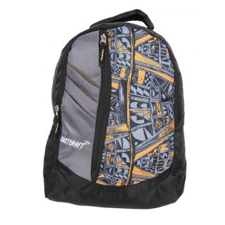 Justcraft Galaxy Black and Yellow Grey Backpack