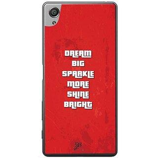 YuBingo Dream Big, Sparkle More, Shine Bright Designer Mobile Case Back Cover For Sony Xperia XA