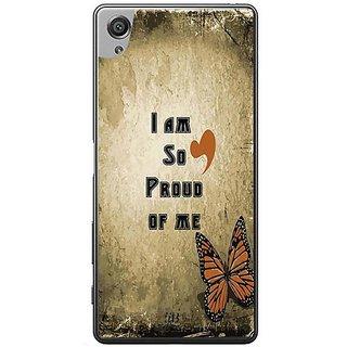 YuBingo I Am So Proud Of Me Designer Mobile Case Back Cover For Sony Xperia XA