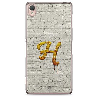 YuBingo Monogram With Beautifully Written Paint Finish Letter H Designer Mobile Case Back Cover For Sony Xperia Z3