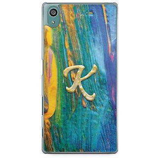 YuBingo Monogram With Beautifully Written Funky Colourful Paint Finish Letter K Designer Mobile Case Back Cover For Sony Xperia Z5