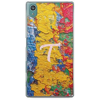 YuBingo Monogram With Beautifully Written Funky Colourful Paint Finish Letter T Designer Mobile Case Back Cover For Sony Xperia Z5