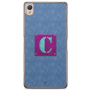 YuBingo Monogram With Beautifully Written Jeans And Girly Leather Finish Letter C Designer Mobile Case Back Cover For Sony Xperia Z3