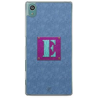YuBingo Monogram With Beautifully Written Jeans And Girly Leather Finish Letter E Designer Mobile Case Back Cover For Sony Xperia Z5