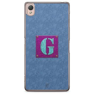YuBingo Monogram With Beautifully Written Jeans And Girly Leather Finish Letter G Designer Mobile Case Back Cover For Sony Xperia Z3