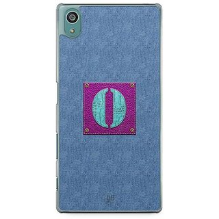 YuBingo Monogram With Beautifully Written Jeans And Girly Leather Finish Letter O Designer Mobile Case Back Cover For Sony Xperia Z5
