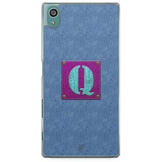 YuBingo Monogram With Beautifully Written Jeans And Girly Leather Finish Letter Q Designer Mobile Case Back Cover For Sony Xperia Z5