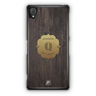 YuBingo Monogram With Beautifully Written Wooden And Metal (Plastic) Finish Letter Q Designer Mobile Case Back Cover For Sony Xperia Z2