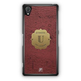 YuBingo Monogram With Beautifully Written Wooden And Metal (Plastic) Finish Letter U Designer Mobile Case Back Cover For Sony Xperia Z2