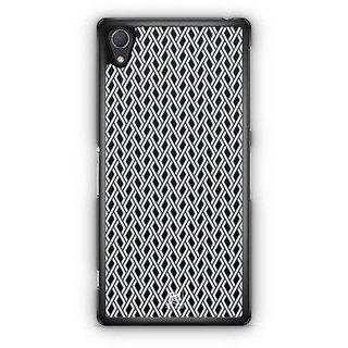 YuBingo Black And White Maze Pattern Designer Mobile Case Back Cover For Sony Xperia Z2