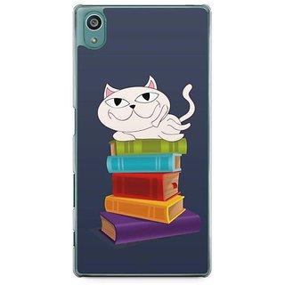YuBingo Cat On Books Designer Mobile Case Back Cover For Sony Xperia Z5