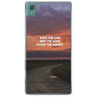 YuBingo Chase The Sunset Designer Mobile Case Back Cover For Sony Xperia Z5