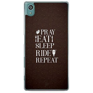YuBingo Pray, Eat, Sleep, Ride, Repeat Designer Mobile Case Back Cover For Sony Xperia Z5