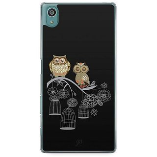 YuBingo Two Owls On A Tree Branch Designer Mobile Case Back Cover For Sony Xperia Z5