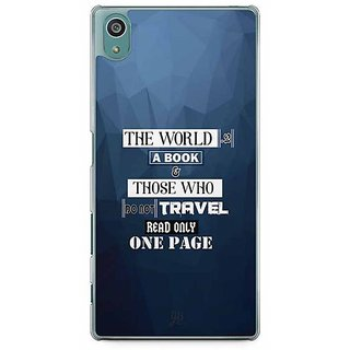 YuBingo The World Is A Book. Those Who Don'T Travel, Read Only One Page Designer Mobile Case Back Cover For Sony Xperia Z5