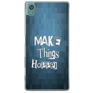 YuBingo Make Things Happen Designer Mobile Case Back Cover For Sony Xperia Z5