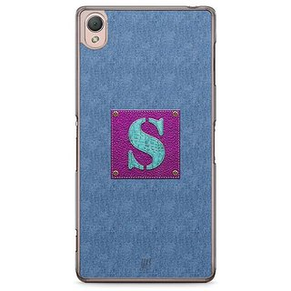 YuBingo Monogram With Beautifully Written Jeans And Girly Leather Finish Letter S Designer Mobile Case Back Cover For Sony Xperia Z3