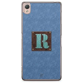 YuBingo Monogram With Beautifully Written Jeans And Macho Male Leather Finish Letter R Designer Mobile Case Back Cover For Sony Xperia Z3