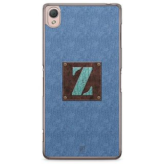 YuBingo Monogram With Beautifully Written Jeans And Macho Male Leather Finish Letter Z Designer Mobile Case Back Cover For Sony Xperia Z3