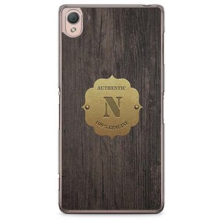 YuBingo Monogram With Beautifully Written Wooden And Metal (Plastic) Finish Letter N Designer Mobile Case Back Cover For Sony Xperia Z3
