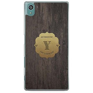 YuBingo Monogram With Beautifully Written Wooden And Metal (Plastic) Finish Letter Y Designer Mobile Case Back Cover For Sony Xperia Z5