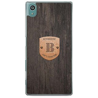 YuBingo Monogram With Beautifully Written Wooden And Metal (Plastic) Finish Letter B Designer Mobile Case Back Cover For Sony Xperia Z5