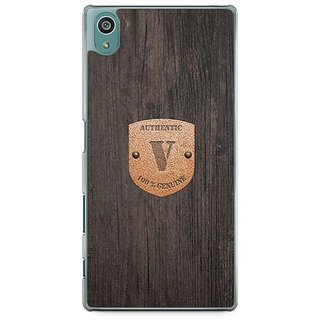 YuBingo Monogram With Beautifully Written Wooden And Metal (Plastic) Finish Letter V Designer Mobile Case Back Cover For Sony Xperia Z5
