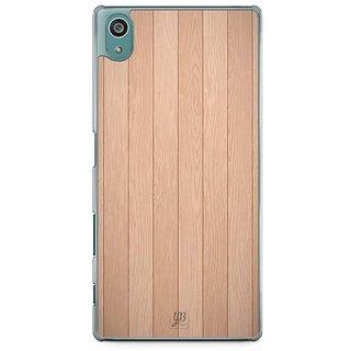 YuBingo Wood Finish (Plastic) Designer Mobile Case Back Cover For Sony Xperia Z5