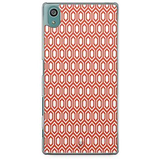 YuBingo Red Hexagon Pattern Designer Mobile Case Back Cover For Sony Xperia Z5