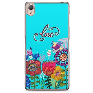 YuBingo Love And Flowers Designer Mobile Case Back Cover For Sony Xperia Z3