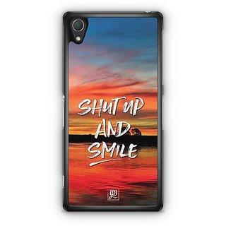YuBingo Shut Up And Smile Designer Mobile Case Back Cover For Sony Xperia Z2