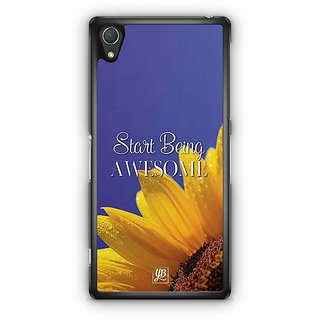 YuBingo Start Being Awesome Designer Mobile Case Back Cover For Sony Xperia Z2