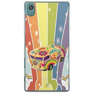 YuBingo Colourful Stylish Bus Designer Mobile Case Back Cover For Sony Xperia Z5